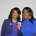 Tessa Sanderson CBE with Dr Beverly Lindsay OBE OD, Vice Lord-Lieutenant